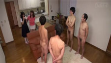 Subtitled dotty Japanese mother CFNM party for shy daughter