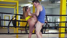 Busty babe goes boxing - video 2