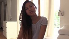 Asian teen may thai tries different dildos