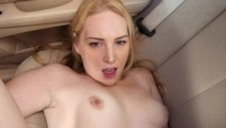 He folds her up and fucks her like a whore from the street in the backseat