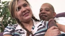 Naughty Daughter Vanessa Lynn Plowed by Huge Ebony Meat Try out